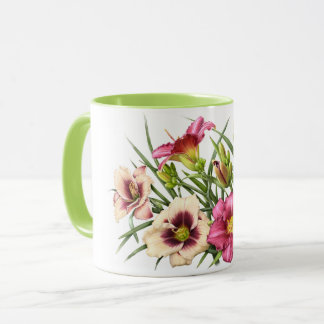Red Daylily Bouquet Mug