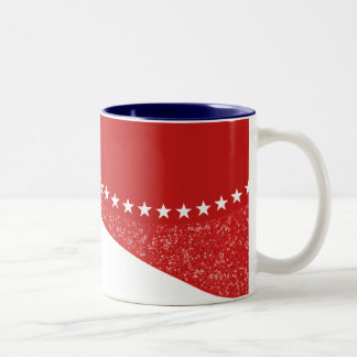 Red Dazzling Star Curves Mug