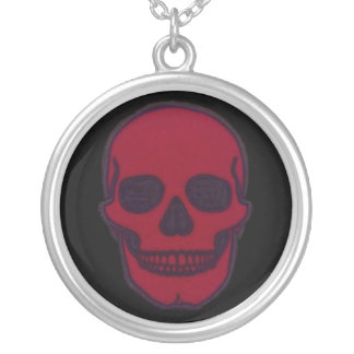 Red Dead Skull Brand Silver Plated Necklace