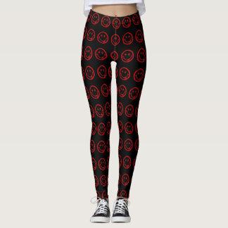 Red Dead Smiley Face Pattern Custom Style Leggings