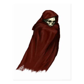 Red Death Ghost - Grim Reaper Postcard