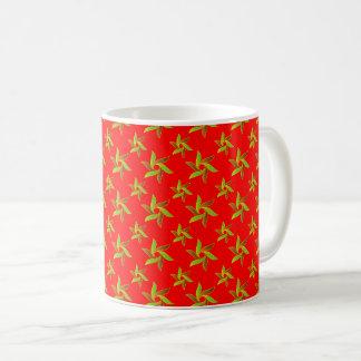 Red Decorative geometric pattern Coffee Mug