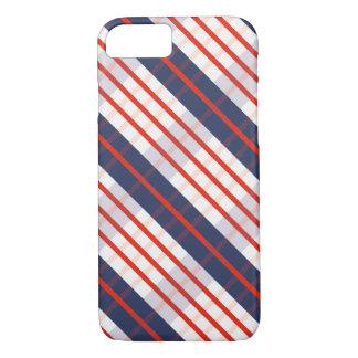 Red Deep Blue Stripe iPhone 8/7 Case