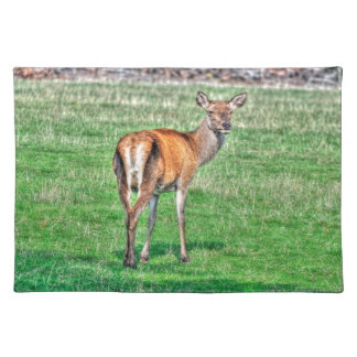 Red Deer & Field Wildlife Animal Design Place Mats