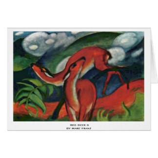 Red Deer Ii By Marc Franz Greeting Card