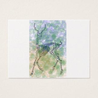 red deer skeleton brown/green business card