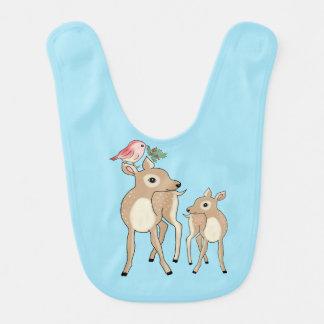 Red deers of Christmas Baby Bibs