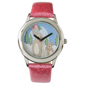 Red deers of Christmas Watches