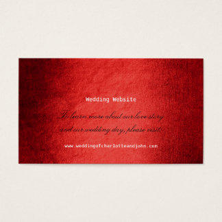Red Delicate Script Minimalism Wedding Website