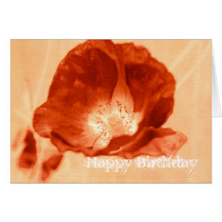 Red Delight Poppy Customizable Card