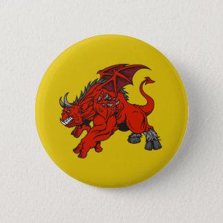 Red Demon Dragon Monster Pinback Button