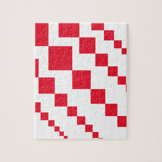 Red Descending Diamonds Jigsaw Puzzle
