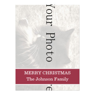 """Red Design Christmas Holiday Invite 6.5"""" x 8.75"""""""