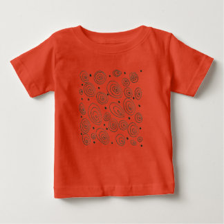 RED designers t-shirt with circles