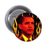 Red Devil Barack Obama The Anti-Christ 6 Cm Round Badge