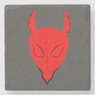 RED DEVIL/DEMON MARBLE STONE COASTER