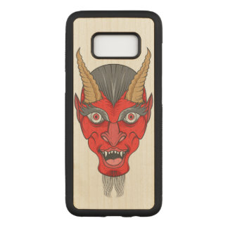Red Devil Illustration Carved Samsung Galaxy S8 Case