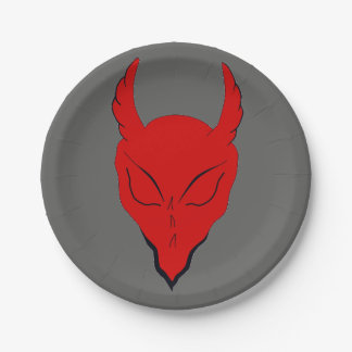 RED DEVIL PAPER PARTY PLATE