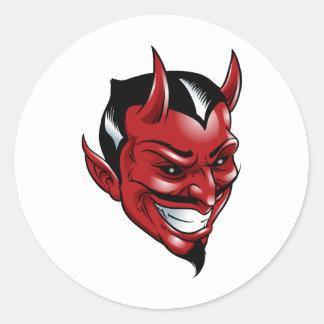 Red Devil Round Sticker