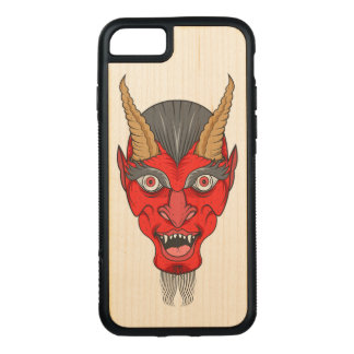 Red Devill Illustration Carved iPhone 8/7 Case