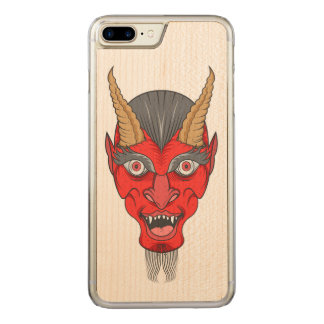 Red Devill Illustration Carved iPhone 8 Plus/7 Plus Case