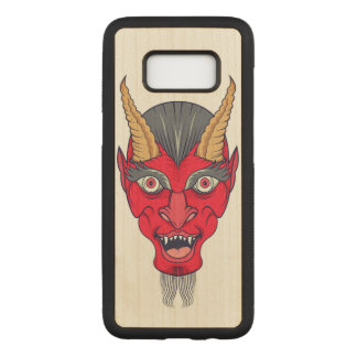 Red Devill Illustration Carved Samsung Galaxy S8 Case