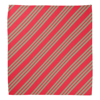 Red Diagonal Stripes Bandana