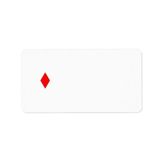 Red Diamond Address Label