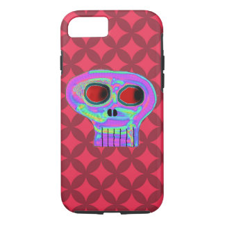 Red Diamond and Candy Skull iPhone 7 Case