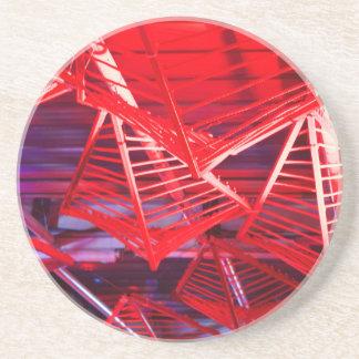 Red Diamond Frames Drink Coaster