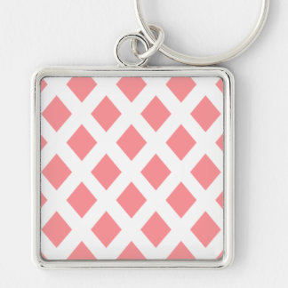 Red Diamond Pattern Key Chains