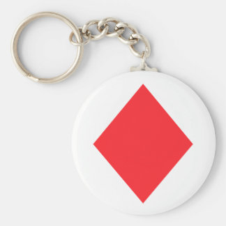 Red Diamond - Suit of Gambling Cards Key Chains
