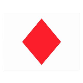 Red Diamond - Suit of Gambling Cards Postcard