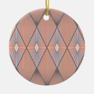 Red diamonds ceramic ornament
