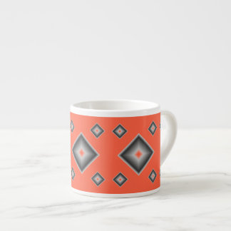 Red Diamonds Espresso Mug by Janz