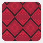 red diamonds pattern sticker