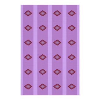 Red Diamonds Pink Scrapbook Paper Stationery