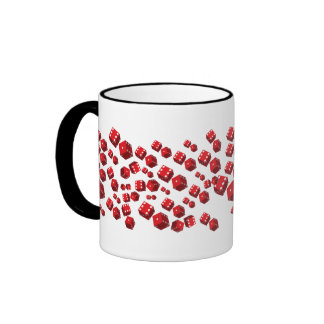 Red Dice Coffee Mugs