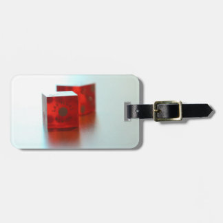 Red Dice Luggage Tag
