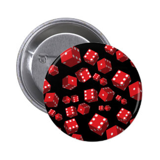 Red Dice Pinback Buttons