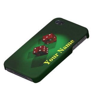 Red Dice Un-Lucky Cases For iPhone 4