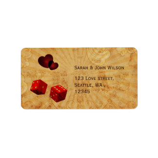 red dice Vintage Vegas adress labels