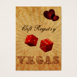 red dice Vintage Vegas Gift registry Business Card