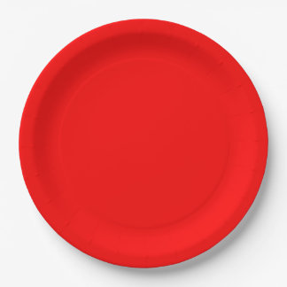 Red Dinner Paper Plate