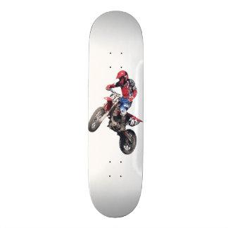 Red Dirt Bike 18.1 Cm Old School Skateboard Deck
