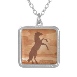 Red Dirt Horse Silver Plated Necklace