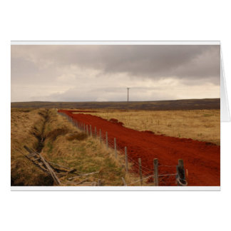 Red Dirt Road In Iceland Card