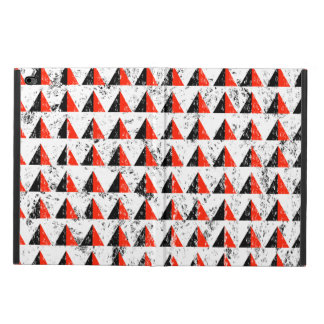 Red Distressed Triangle Pattern