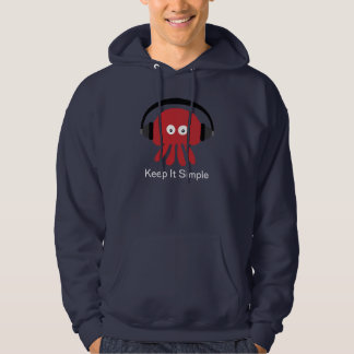 Red DJ Jellyfish Keep It Simple Navy Hoody