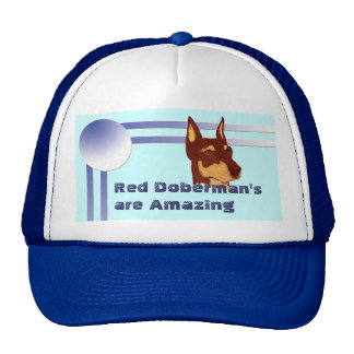 Red Doberman Pinschers are Amazing Mesh Hat